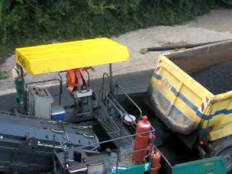 Asphaltierungsarbeiten der A48 in der Gemarkung Polch