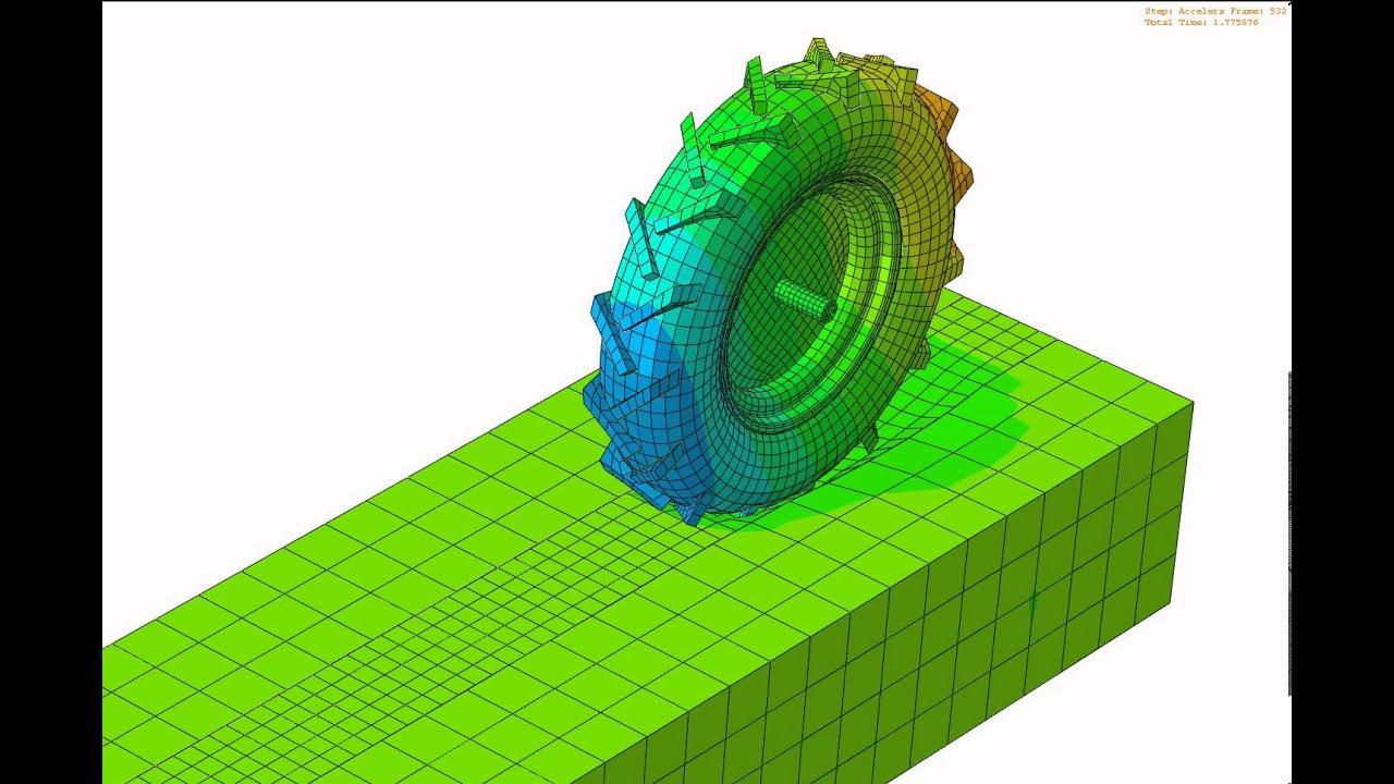 3d tyre soil model youtube for Soil 3d model
