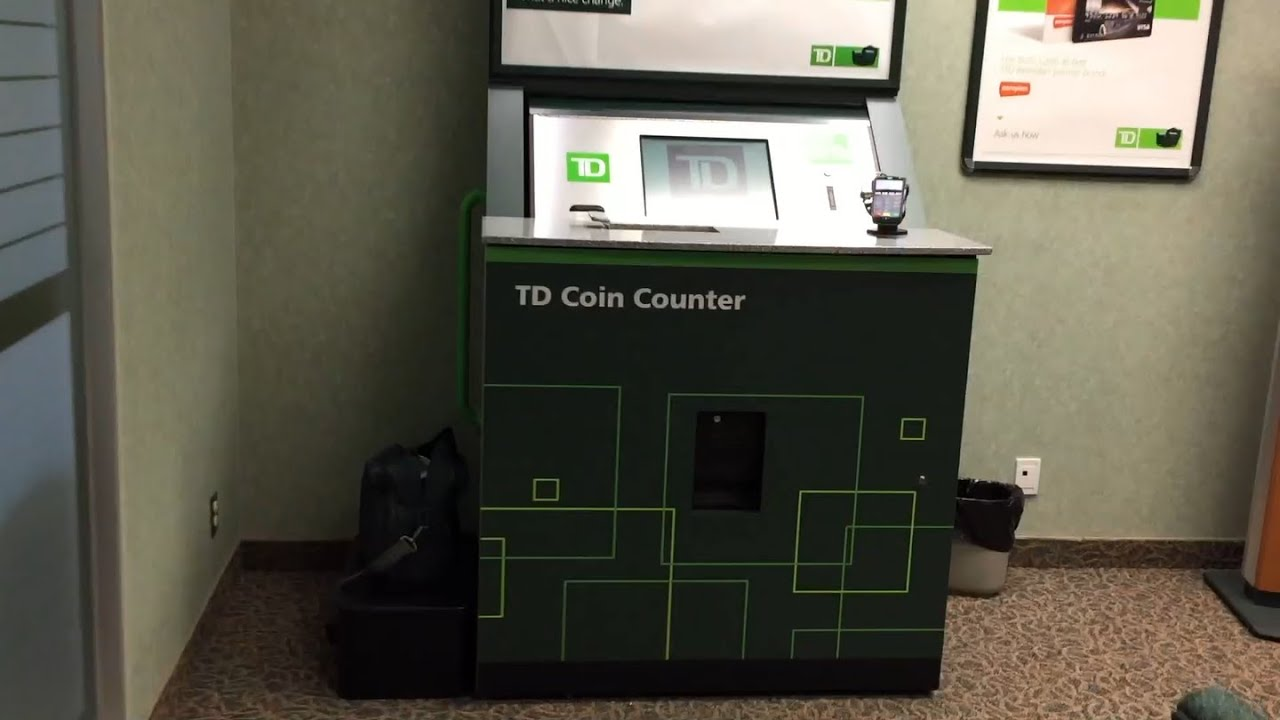 Piggy Bank With Counter Td Canada Trust Bank Coin Counter 2015 Youtube