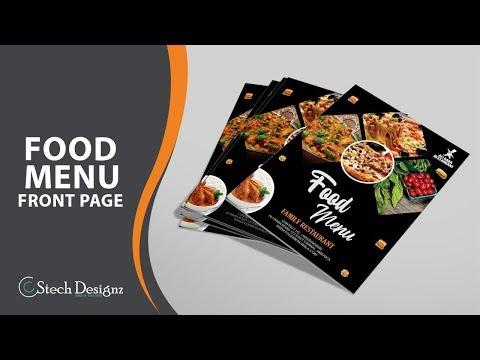 How To Make Restaurant Food Menu In CorelDraw X7 - 2019 - STECH DESIGNZ