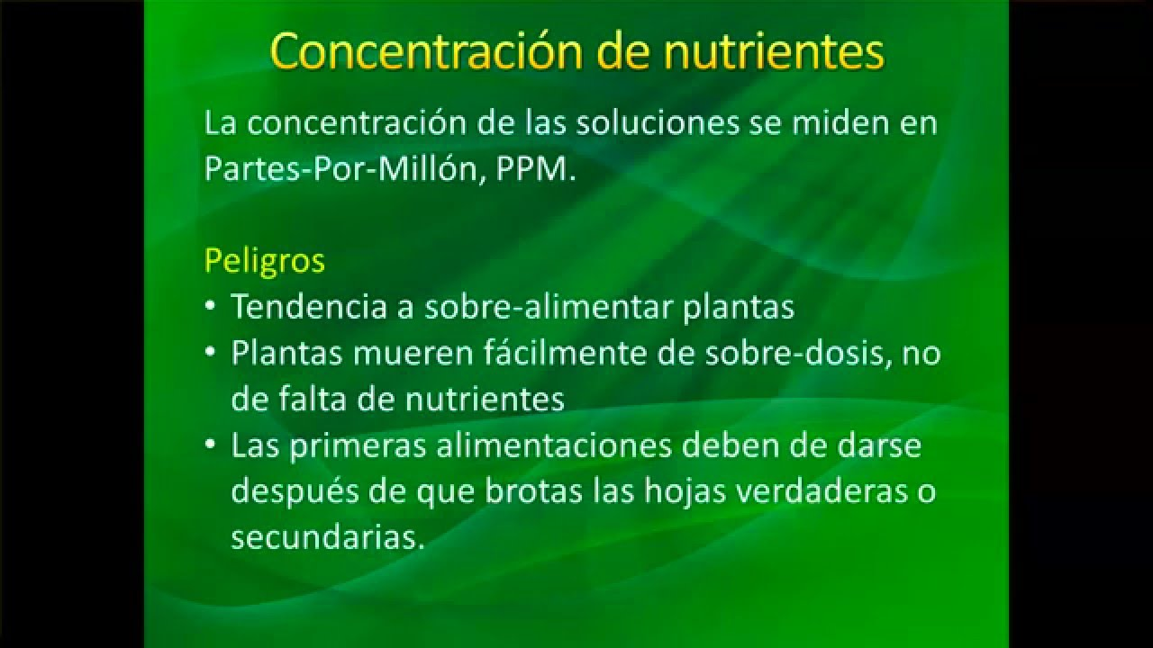 Fertilizantes, pH y PPM - YouTube