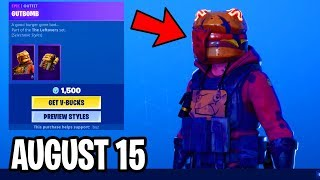 *NEW* GUTBOMB & HOTHOUSE SKINS..!! TOMATO & BURGER EMOTES! - Fortnite Daily Item Shop August 15