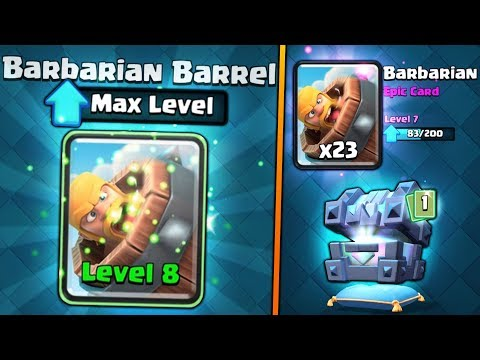 FULLY MAXED BARBARIAN BARREL UPGRADE!   Clash Royale   BIG NEW CHEST OPENING SPREE!!