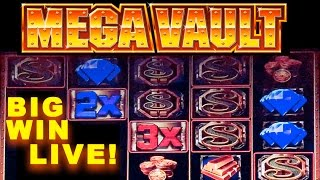 LIVE! - MEGA VAULT SLOT MACHINE - **BIG WIN** - Slot Machine Bonus (Casinomannj)
