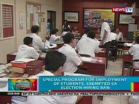 BP: Special program for employment of students, exempted sa election hiring ban