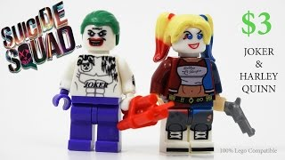 Lego Suicide Squad Joker & Harley Quinn Minifigures for Stop Motion Batman - Review
