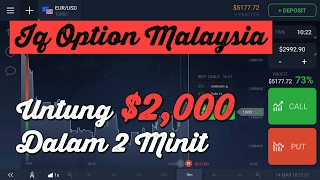 IQ Option Malaysia Strategy 2017 - 95% Chances Menang Binary Option 2 minit Untung 💲2,000
