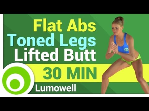 Flat Abs, Toned Legs and Butt lift Workout