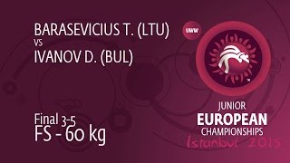BRONZE FS - 60 kg: D. IVANOV (BUL) df. T. BARASEVICIUS (LTU) by TF, 14-3