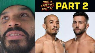 MMA Pros Pick Jose Aldo vs Pedro Munhoz Part 2 UFC 265