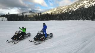 ICE FISHING and SNOWMOBILE expedition through BC, Canada.