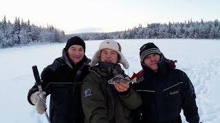 РЫБАЛКА В КАРЕЛИИ В МАРТЕ . cool fishing in the North