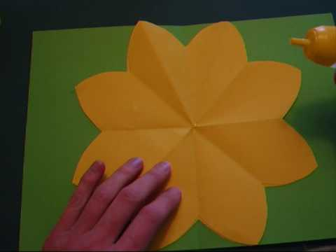 Papercraft pop-up - papercraft - pop-up paper flower - tutorial - dutchpapergirl
