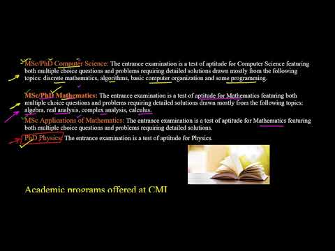 CHENNAI MATHEMATICAL INSTITUE(CMI) EXAM INFORMATION,EXAM PATTERN,ELIGIBILITY,IMPORTANT DATES