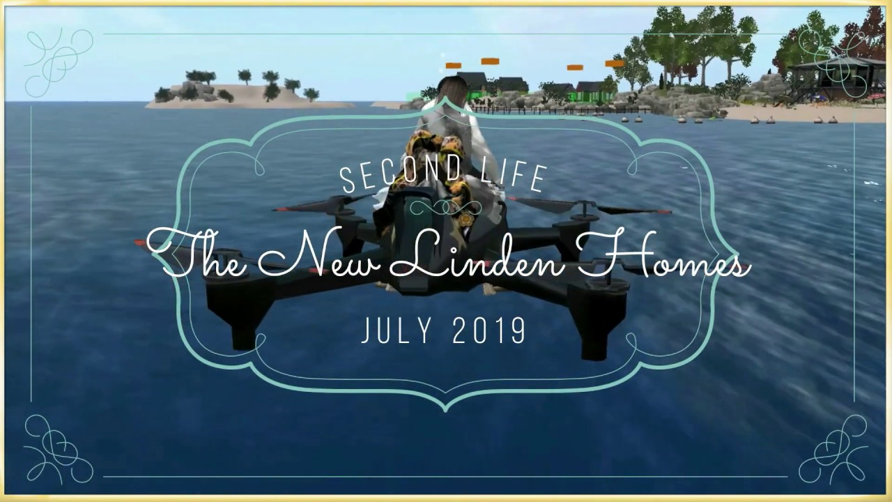 Second Life 2019 The New Linden Homes (Drone) セカンドライフ
