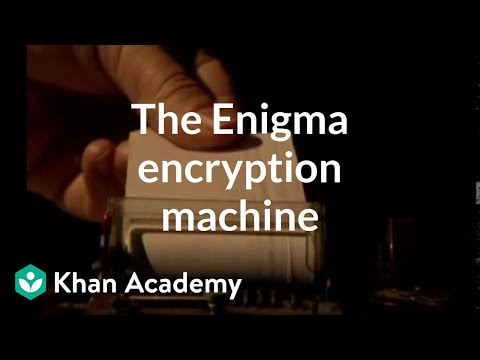 The Enigma encryption machine | Journey into cryptography | Computer Science | Khan Academy