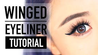 How to do Winged Eyeliner for Hooded Eyes Tutorial ♥ Cat Liner ♥ Wengie