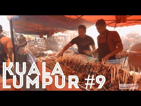 Monday Night Food Market Haul in Kuala Lumpur. Lots of Goodies. /// Jones Family Travel Vlog
