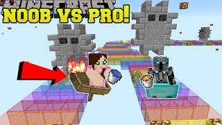 Minecraft: NOOB VS PRO!!! - JEN'S BEST MARIO KART RACES! - Mini-Game