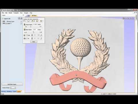 Vectric V8 Tutorials - Golf Award 3D Assembly