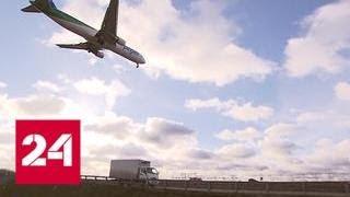 В Шереметьеве самолет на взлете сбил человека: как авиадебошир попал на поле? - Россия 24