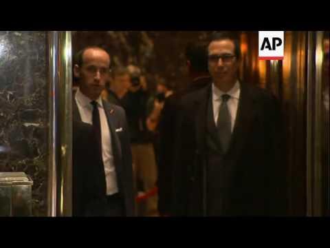 Mnuchin, Lewandowski Visit Trump Tower
