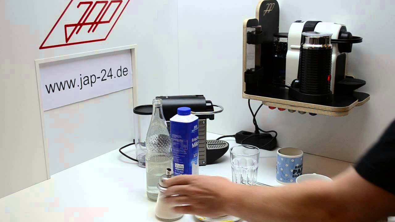 einbau halterung nespresso pixie inissia aeroccino 3. Black Bedroom Furniture Sets. Home Design Ideas