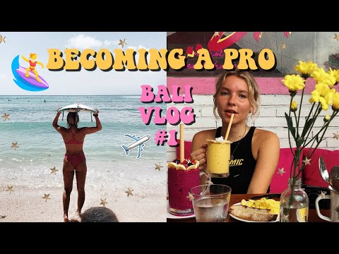 LEARNING TO SURF IN BALI!!   BACKPACKING VLOG #4 thumbnail