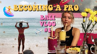 LEARNING TO SURF IN BALI!! | BACKPACKING VLOG #4