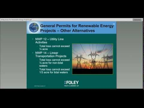 Energy & Environmental Law Update: Siting Issues for Renewable Energy Projects