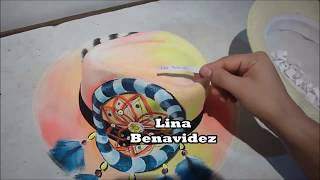sombreros pintados  para playa y de moda ---  sorteo