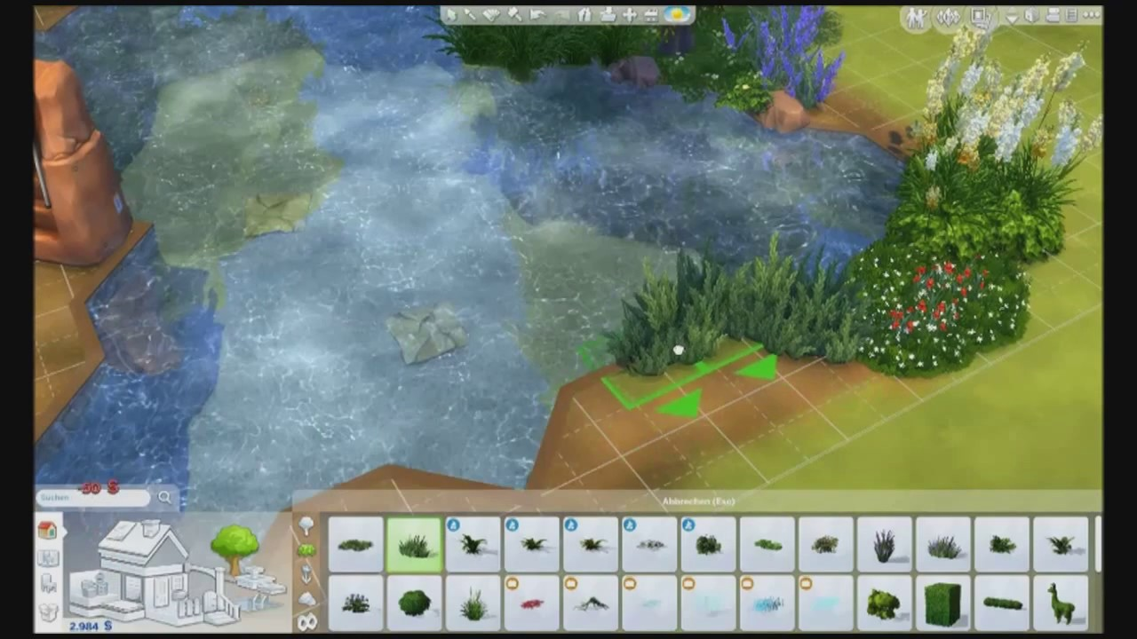 The sims 4 how to create natural ponds youtube for Sims 4 fishing