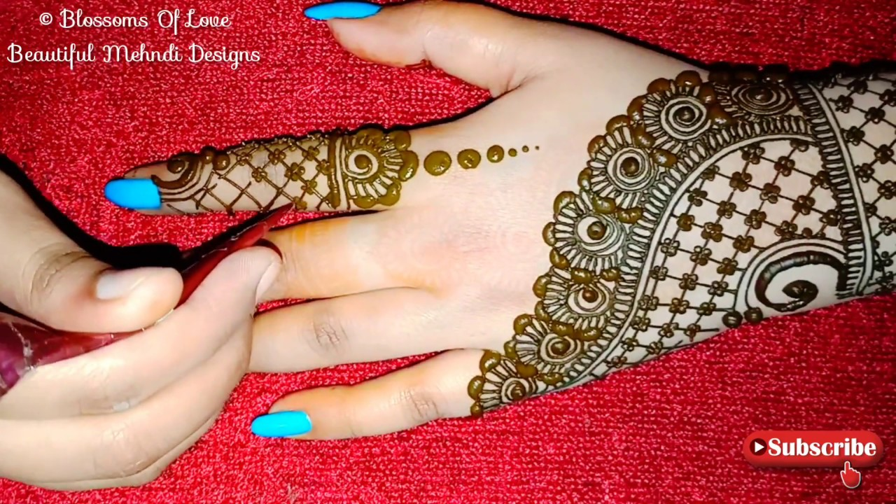 mehndi designs hand back