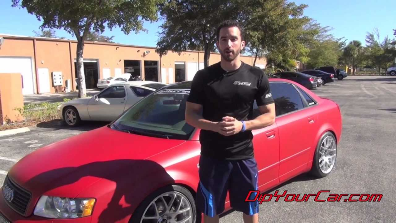 Red Plasti Dip a Car - DipYourCar Pro Car Kit