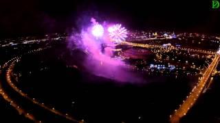 Международный фестиваль фейерверков на Воробьевых горах (Квадрокоптер видео)