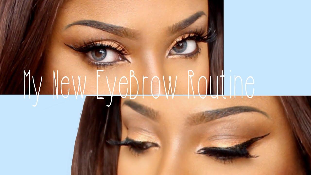 My New Eyebrow Routine Using Liquid Liner Youtube
