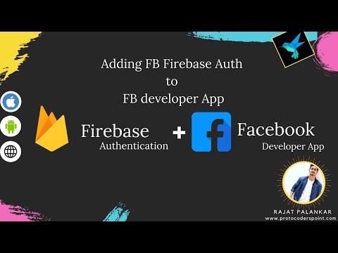 Connect firebase facebook auth to facebook developer console app