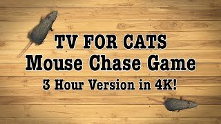 TV for Cats - MOUSE CHASE GAME - 3 Hours in 4K!