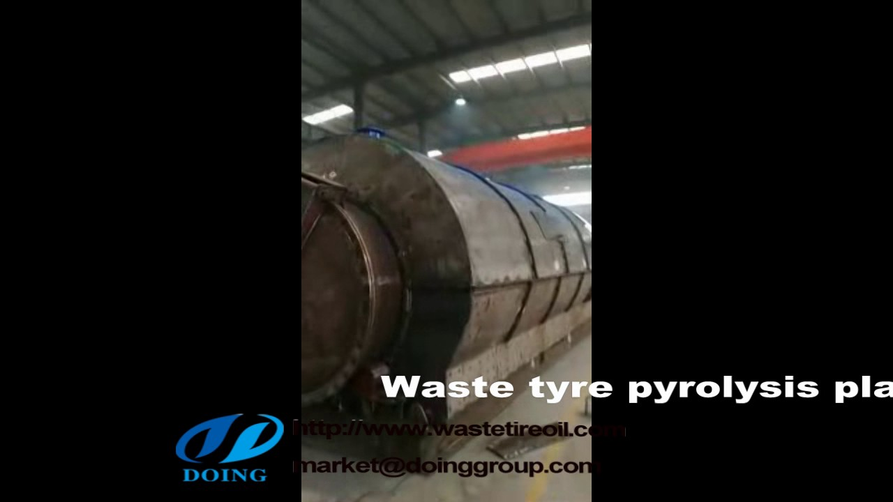 Waste tyre to fuel oil recycling pyrolysis plant for India customer