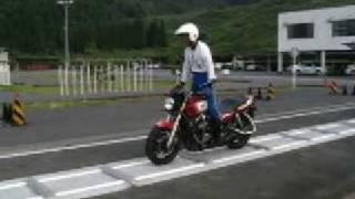 教官の模範的波状路 はじめての大型バイク挑戦
