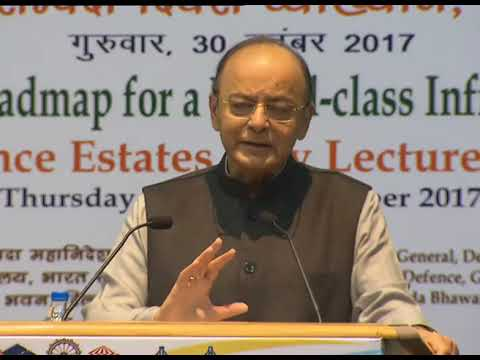 FM Arun Jaitley delivers lecture on 'Roadmap to World Class Infrastructure'