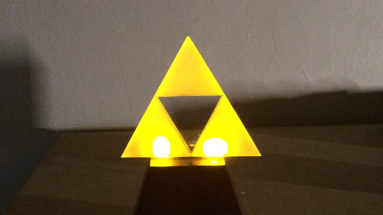 make a glowing l e d triforce