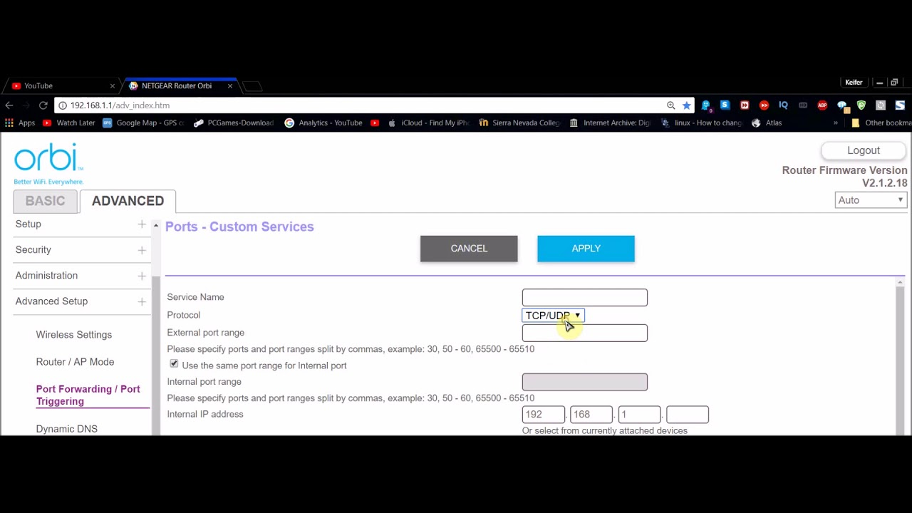 How To Configure Port Forwarding On A Netgear or Orbi Router