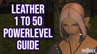 FFXIV 2.4 0429 Leatherworker 1-50 (Powerlevel Guide)