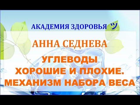 УГЛЕВОДЫ ХОРОШИЕ И ПЛОХИЕ. МЕХАНИЗМ НАБОРА ВЕСА. Анна Седнева