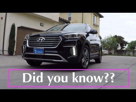 2017 2018 Hyundai Santa Fe 10 cool features