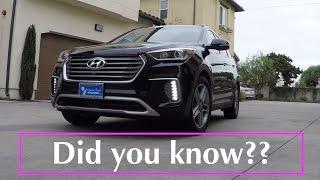 2017 / 2018 Hyundai Santa Fe - 10 Cool Features