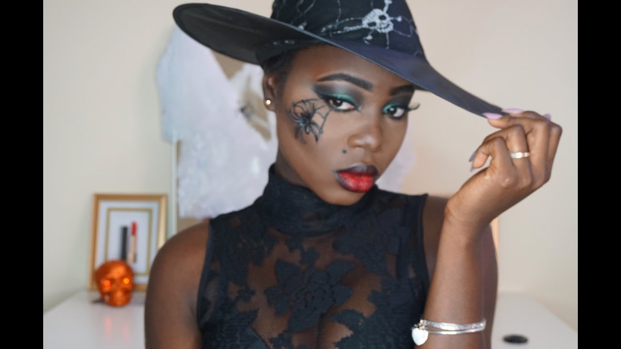 Easy Last Minute Halloween Makeup Tutorial (great for dark skin ...