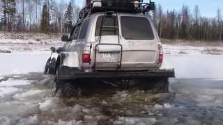 Toyota Land Cruiser 80 with Unimog axles Ноябрьский брод