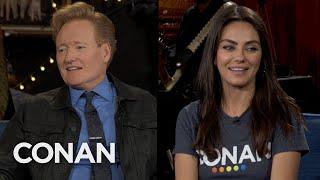 Conan Caught Mila Kunis & Ashton Kutcher Lighting Fireworks - CONAN on TBS